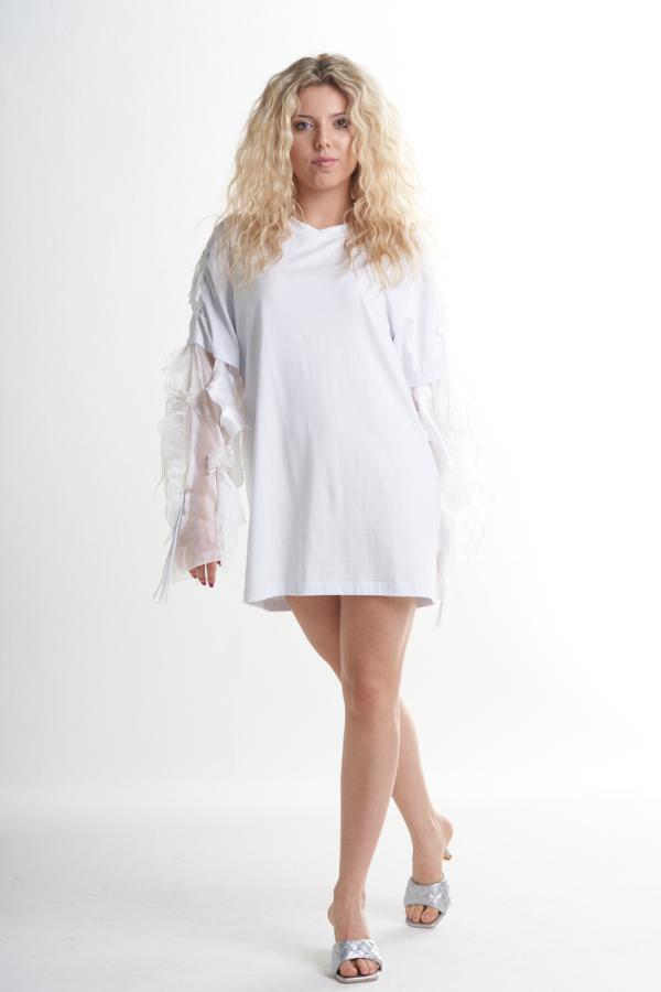 OVERSIZE - MINIABITO - White swan