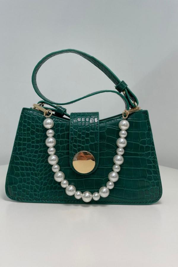 borsa verde perle