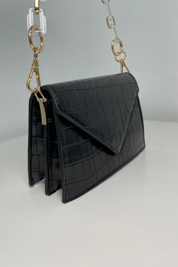 borsa nera lucida