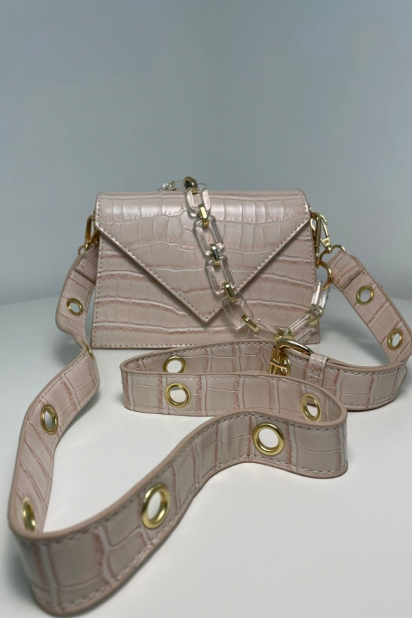 borsa beige lucida