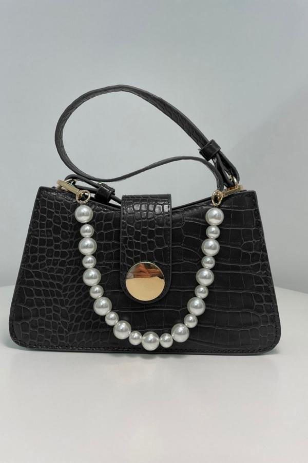 borsa nera perle